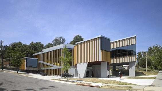 Adjaye Associates–William O. Lockridge Bellevue Library, Washington, D.C. | photo: Edmund Sumner