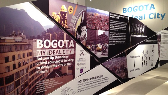 Archi-Tectonics–Downtown Bogota // My Ideal City, Exhibition, AEDES Gallery, Berlin, Germany | photo courtesy of Archi-Tectonics