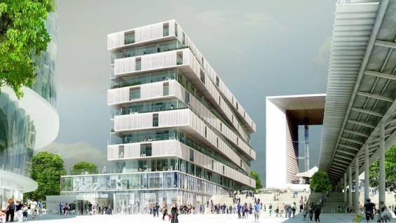 La Defense Lot 19 Paris, France   rendering by Farshid Moussavi Architecture