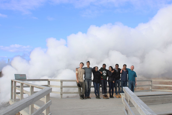 Students at Gunnuhver Hot Springs, Reykjanes Peninsula