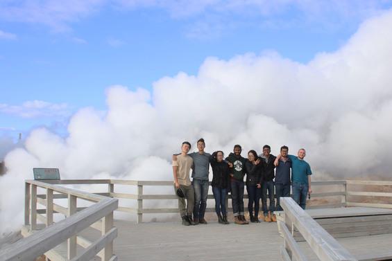 Students at Gunnuhver Hot Springs, Reykjanes Peninsula