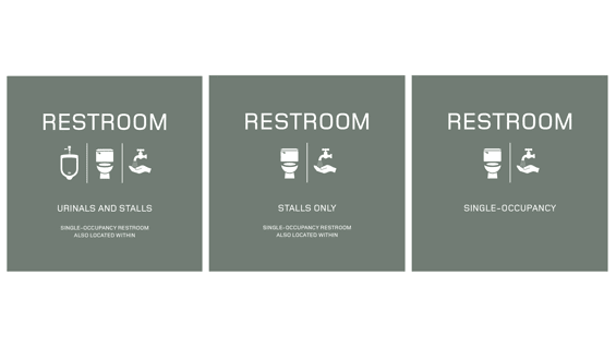 The new non-gendered bathroom signage