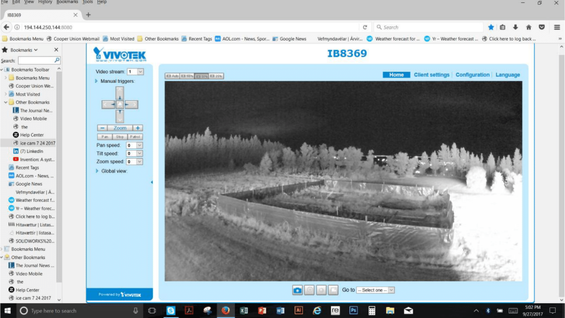 3D Security Camera network using thermoelectric generator powered by a geothermal steam pipe in iceland