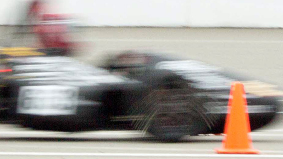 The 2014 Cooper Union Formula race car in action