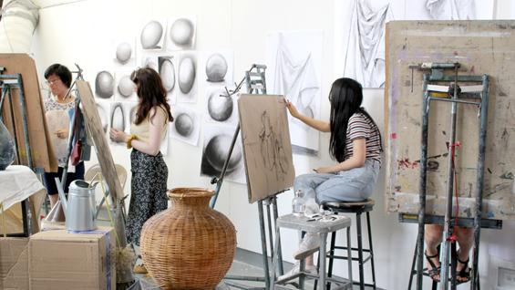 Summer Art Intensive students 2019