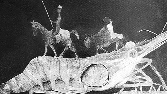 Drawing by Helene Baril, from 'The Sea Theater,' courtesy of the artist