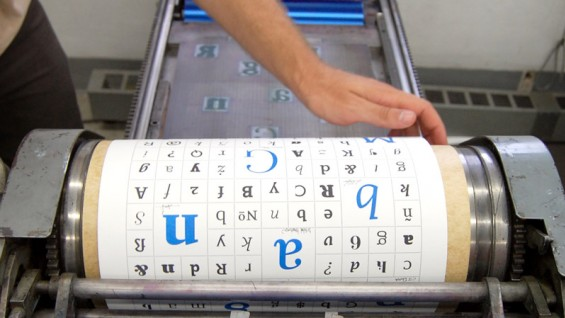 Producing letterpress prints for Type@Cooper