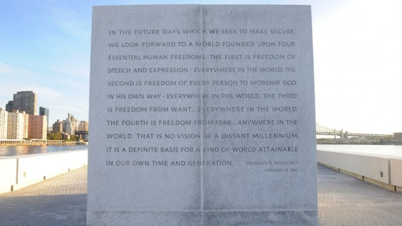 Roosevelt's quote on the monument