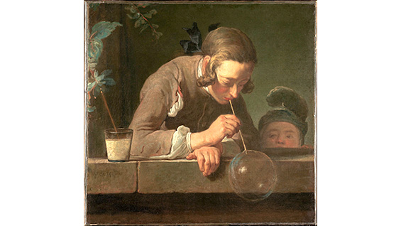 'Soap Bubbles,' Jean-Baptiste-Siméon Chardin, 1733. Image courtesy of the Metropolitan Museum of Art