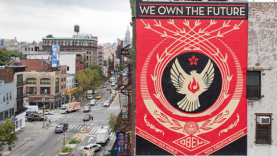 'We Own the Future' by Shepard Fairey. Image courtesy of L.I.S.A Project NYC