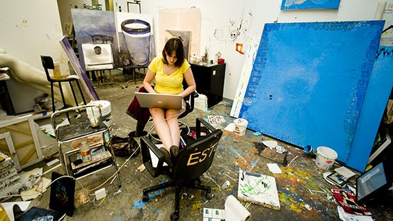 Students at the School of Art receive a studio space in the second year<br><br>