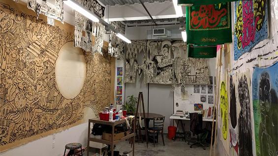 Iman Raad Studio view, New Haven, 2016