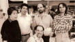 In the shop in the mid-1980s: Ersy Schwartz with David Karlin, Paul Dilella, Frank Kurtzke and Max Hyder (seated)