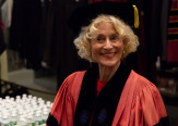Martha Nussbaum, prior to delivering the commencement address
