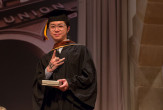 Louis Chan A'18, recipient of the Toni and David Yarnell Merit Award of Excellence in Art