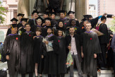 Members of the 2018 graduating class of The Irwin S. Chanin School of Architecture