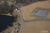Recently constructed well pad prior to drilling at Hydro-Fracking site. Dimock, Pennsylvania.