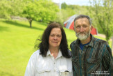 Alice and Pete Diehl on their farm, which has been owned and run by their family for five generations. Youngsville, New York.
