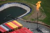 Flare at Hydro-Fracking drilling operations near Sopertown, Pennsylvania.