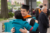 Jessie Wu ME'17 accepts a maternal hug for a job well done.