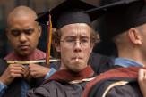 Evan McGiffert A'17 prepared to receive his diploma.