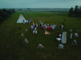 Native Faith's Stone Circle during celebration of Summer Solstice, June 20th, 2020