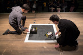The Hong vs. Skelebot in the Sumo Robot Competition