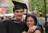 Joseph Parrella AR'17 with his mother, Gina