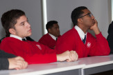 La Salle Academy students listen to the introduction by Professor Delagrammatikas