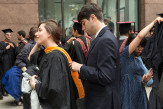 Natalia Zawisny CE'14 gets a last minute adjustment from Andrew Novak ME'13
