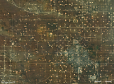 Hydro-fracking well sites around Eunice, New Mexico.