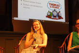 Amanda Lombardo presented her internship experiences, most recently with the toy department at Thomas & Friends