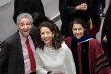 Willard Warren EE'50 and his daughters  Josianne Pennington and Rachel Warren, chair of the board of trustees