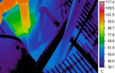 Infrared Image of NYC Waste Condensate, 51 Astor Place, 2008