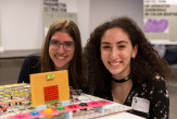 Shifra Abitan and Aziza Almanakly behind their Digital Logic Design project
