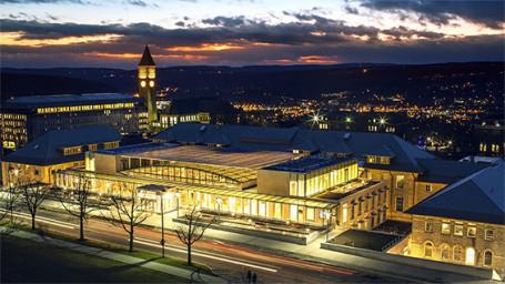 Klarman Hall, image courtesy of Cornell University Marketing Group