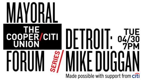 Mike Duggan Mayor's Forum banner