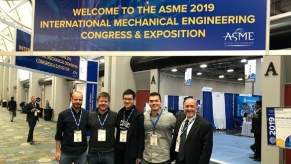 From left to right: Prof. Dirk Luchtenburg, Thorstein Rykkje, Sam Chen, Christopher Mignano, and Prof. Thomas Impelluso