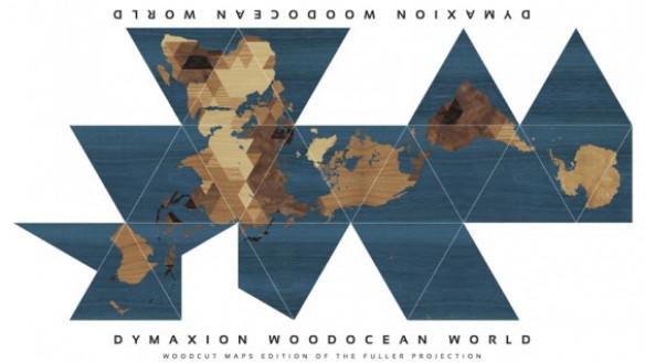 Dymaxion Woodocean World, Nicole Santucci + Woodcut Maps, 2013