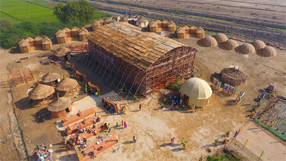 Heritage Foundation of Pakistan   Zero Carbon Cultural Centre, Makli, 2015–2019. Image courtesy of Heritage Foundation of Pakistan