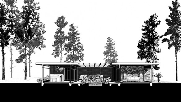 Chase residence section drawing
