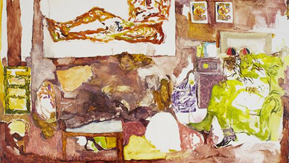 "Jennifer Packer, Jordan (detail), 42"" x 54"", oil on canvas, 2014"