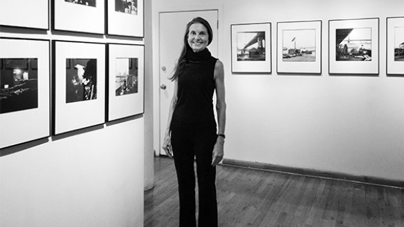 Margaret Morton at her Leica Gallery Retrospective, 2015. Photo by Janet Odgis