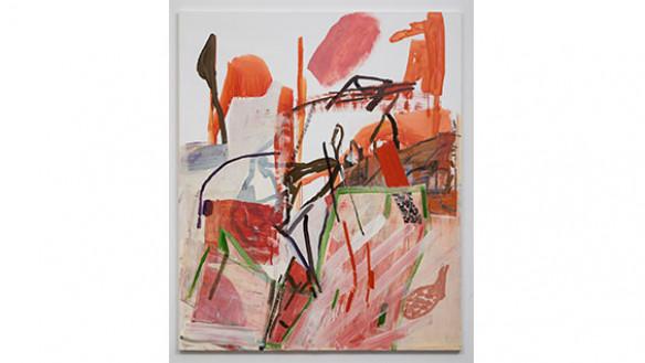 "Amy Sillman, ""Split 2"", 2020, acrylic and oil on linen, 70""x62"". Photo: David Regen"