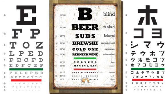 Eye chart examples