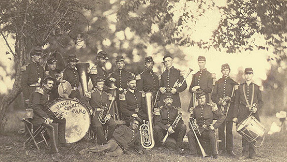 Band of the 8th New York State Militia. Arlington, VA, June 1861. Photo courtesy the Library of Congress