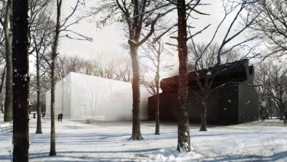 Thomas Phifer–Corning Museum of Glass, Corning, NY | rendering: By-Encore