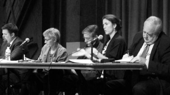 From left: Jody Grapes, Atina Grossmann, Kevin Bone, Susannah Drake, Albert Appleton