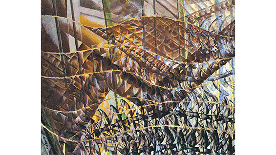 'Swifts: Paths of Movement + Dynamic Sequences' (1913) Giacomo Balla