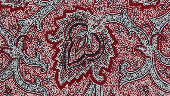 Turkey red bandana c. 1880 (detail)